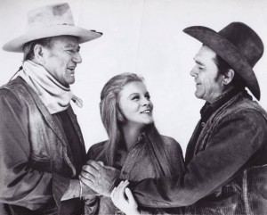 John Wayne, Angie Dickinson, Ben Johnson
