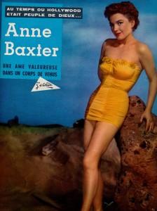 Anne Baxter (ciné revue 6 avril 67)