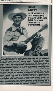 Gene Autry - Ciné revue 1967