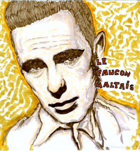 Humphrey Bogart dans LE FAUCON MALTAIS