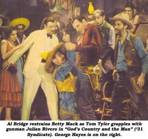 Betty Mack, Al Bridges, Julian Rivero, Tom Tyler, George Hayes