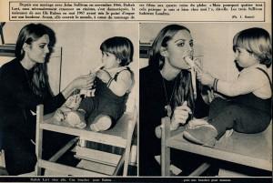 Daliah Lavi maman 23-1-69 ( ciné revue)