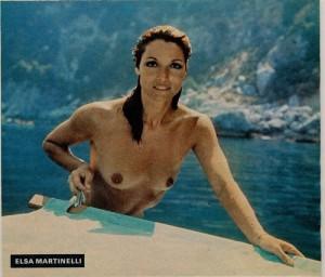 Elsa Martinelli en vacances (cine revue aout 1976)