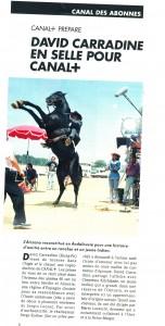 David Carradine : article Canal+ (de Didier Givannel)