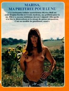 Marisa Mell par Angelo Frontoni - cinerevue august 1979