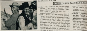 Coups de feu dans la sierra-Randolph Scott, Joel McCrea (fiche C.Revue sept. 77)