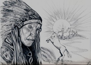 Big Chief White Horse Eagle