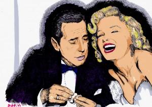 Humphrey Bogart et Marilyn Monroe