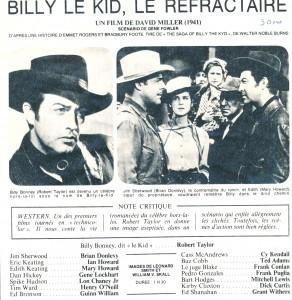 Billy Le Kid le réfractaire