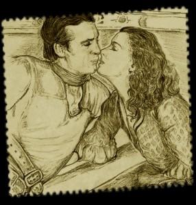 Gary Cooper et Lily Damita dans FIGHTIN CARAVANS