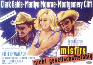 LES DESAXES clark gable marilyn monroe monty clift