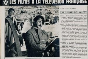 Les géants de l'Ouest-Rock Hudson (cinerevue 1976)