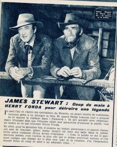 Henry Fonda, James Stewart (ciné revue février 67)
