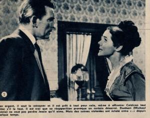 Michael Rennie et Kathryn Hays dans Marqué au fer rouge