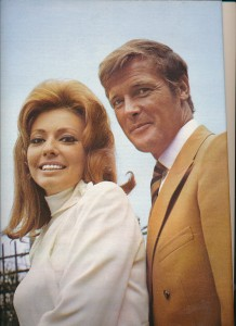 Roger Moore et Claudie Lange (1970 cinérevue)