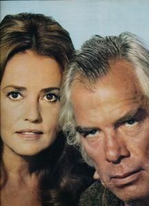 Lee Marvin Jeanne Moreau Monte Walsh février 1971