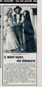 Dans la poussière du soleil (cinérevue octobre 1970)
