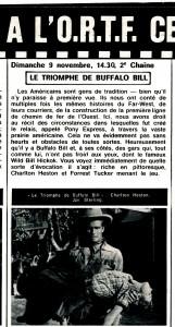 Le triomphe de Buffalo Bill (cinérevue nov. 69)