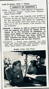 Vendetta en Camargue 1971