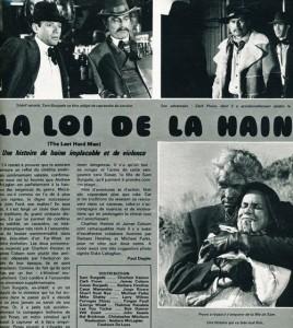 La loi de la haine Charlton Heston -Barbara Hershey-james coburn (cine revue 1976)