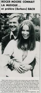 Roger Moore-Barbara Bach (cinerevue 1976)