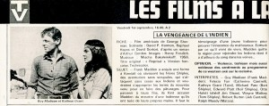 La vengeance de l'Indien- Guy Madison- cinerevue 1978