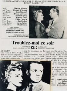 Troublez-moi ce soir (Marilyn Monroe, Richard Widmark)